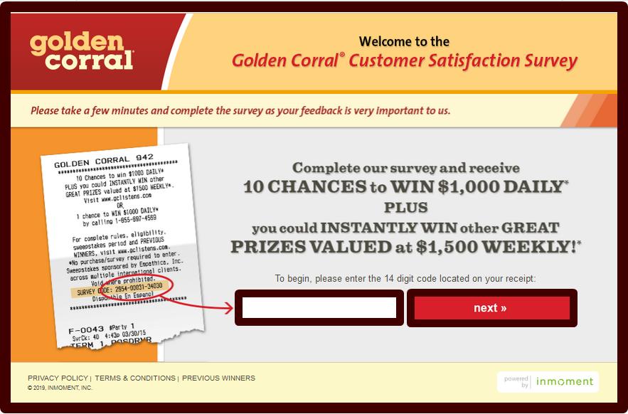 Golden Corral Customer Satisfaction Survey