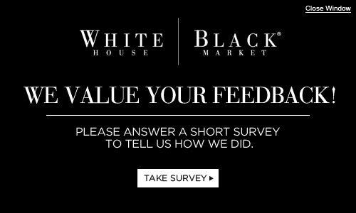 White House Black Market Survey