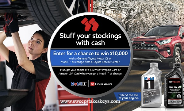 Toyota Mobil 1 Cash Sweepstakes