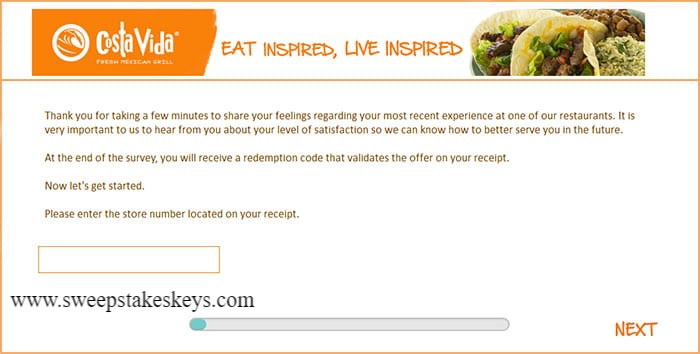 Costa Vida Customer Satisfaction Survey
