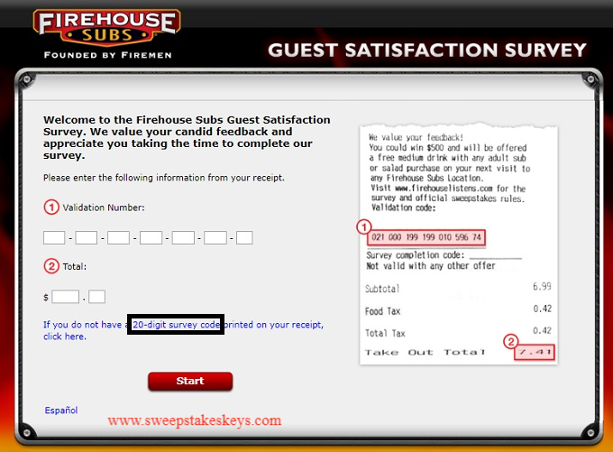 Firehouse Listens Guest Satisfaction Survey