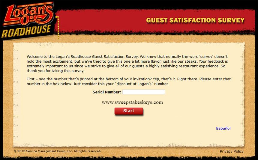 Logans Roadhouse Guest Satisfaction Survey