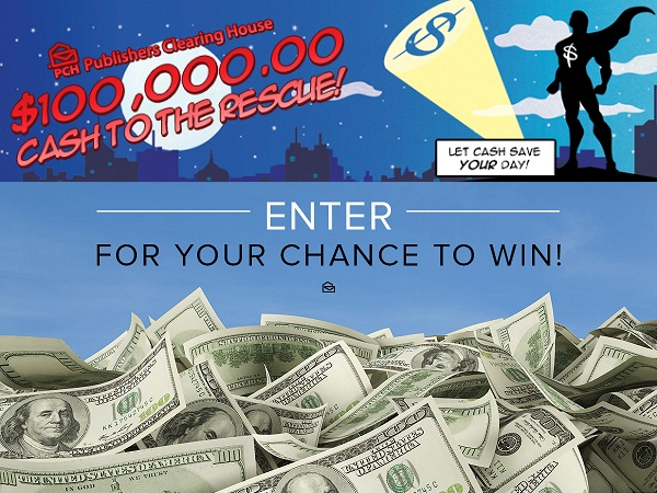 PCH $100,000 Cash to The Rescue Giveaway