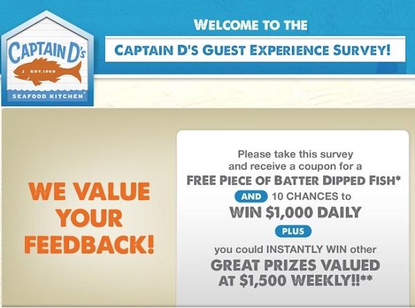 Captain D's Customer Experience Survey