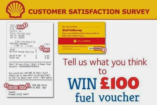 Shell Customer Voice Opinion Survey