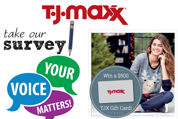 Tell T.J. Maxx Feedback in Customer Survey