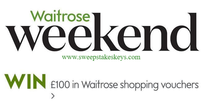 MyWaitrose Weekend Crossword Competition