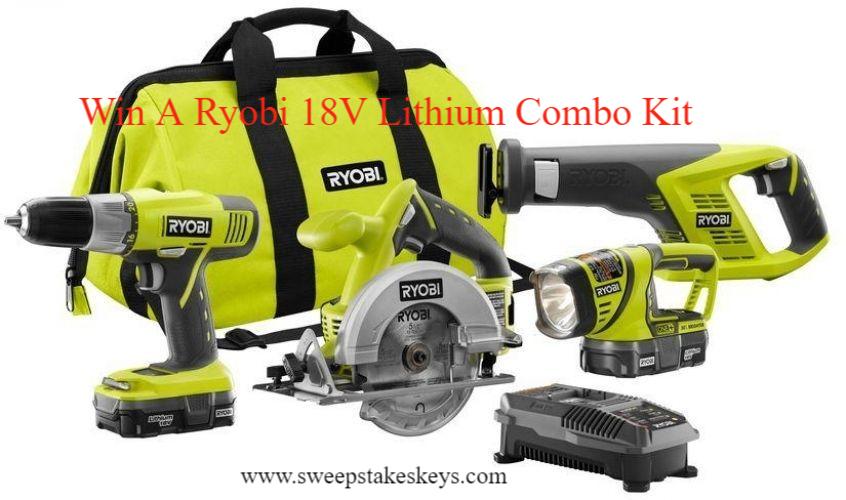 Ron Hazelton Ryobi 18V Lithium Combo Kit Sweepstakes