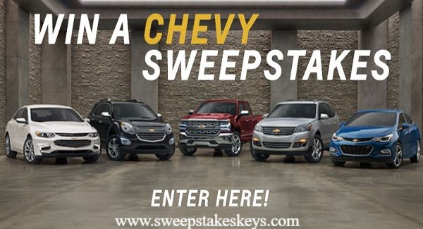 General Motors Win A Chevy Sweepstakes