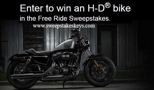 Harley Davidson Visa Free Ride Sweepstakes