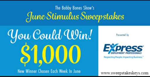 Bobby Bones Cash Sweepstakes