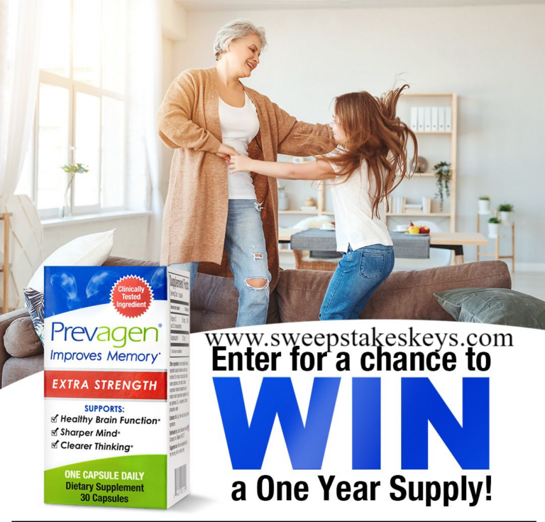 Prevagen Extra Strength Year Supply Sweepstakes