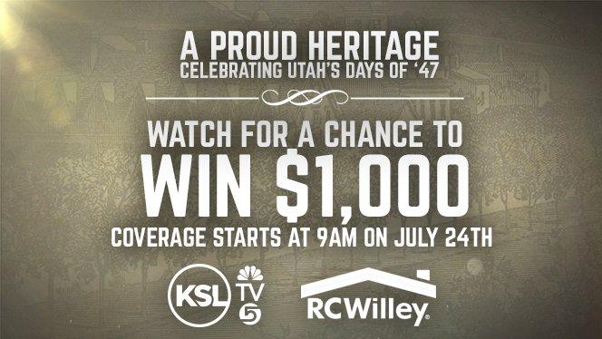 KSL TV Days of 47 Parade Giveaway