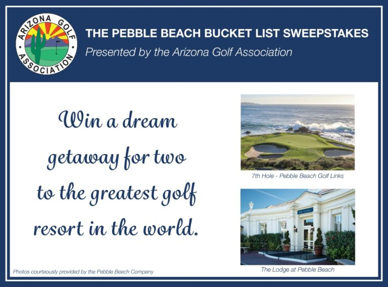 Pebble Beach Bucket List Sweepstakes