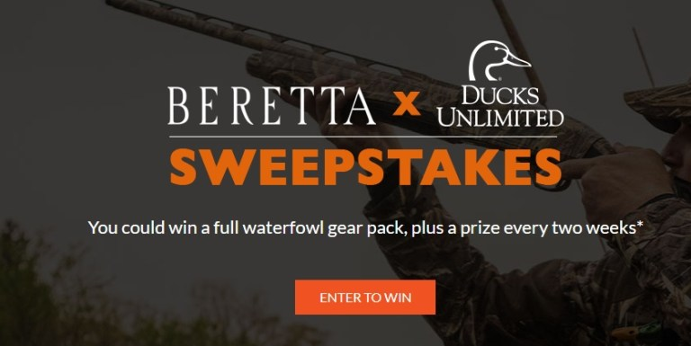 Beretta And Ducks Unlimited 2020 Sweepstakes