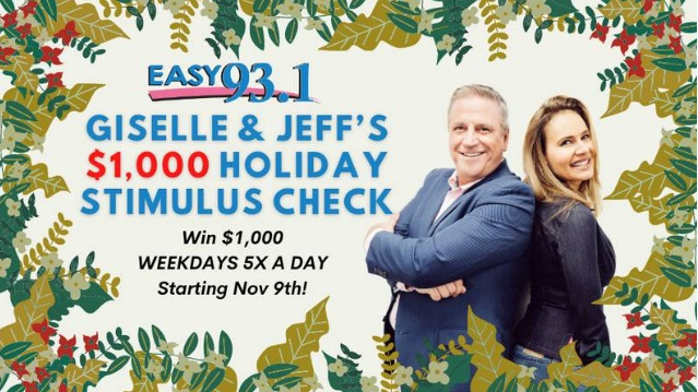 Giselle And Jeffs $1000 Holiday Stimulus Check Keyword Sweepstakes