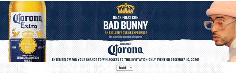 Crown Imports Unas Frias Con Bad Bunny Sweepstakes