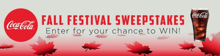 The Coca Cola Fall Festival Sweepstakes