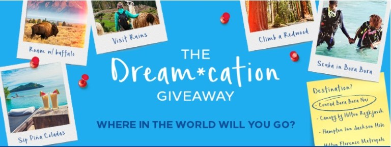 Hilton Honors Dream cation Giveaway