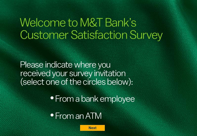 M&T Bank Customer Experience Survey