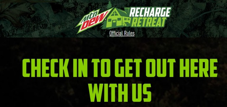 Mountain Dew Recharge Retreat Sweepstakes