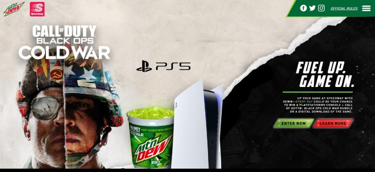 Mountain Dew And Speedway Sweepstakes
