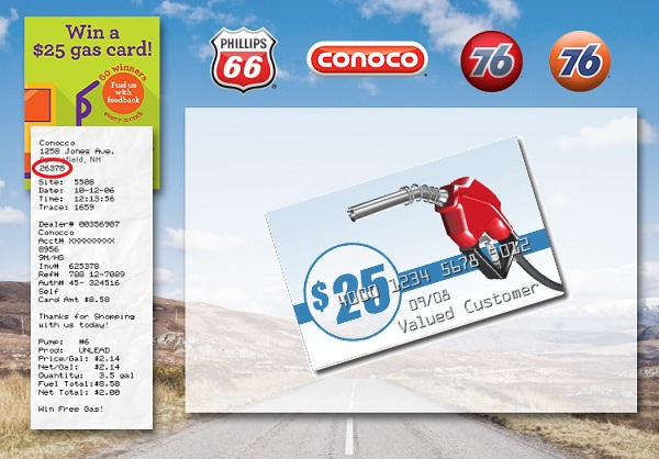 Phillips66 Gas Visit Customer Satisfaction Survey