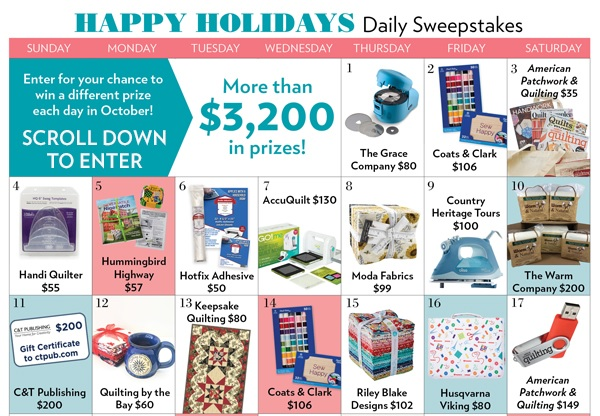 Meredith Corporation Happy Holidays Daily Sweepstakes