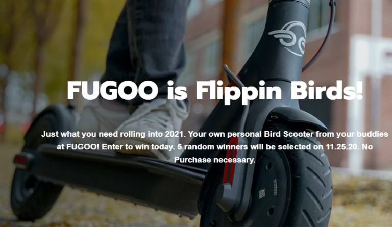 Fugoo Bird Scooter Giveaway