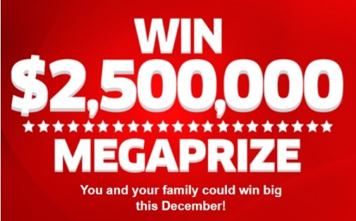 PCH $2500000 Megaprize Sweepstakes