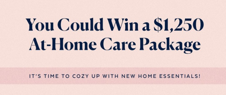 POPSUGAR At Home Care Package Sweepstakes
