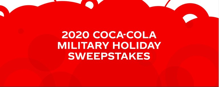 Coca Cola Military Holiday Sweepstakes
