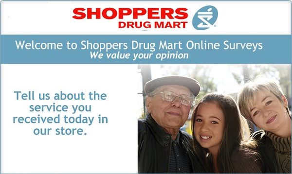 Tell Shoppers Drug Mart Feedback Survey
