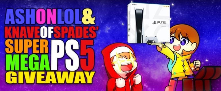 Ash On Lol And KnaveOfSpades Super Mega PS5 Giveaway