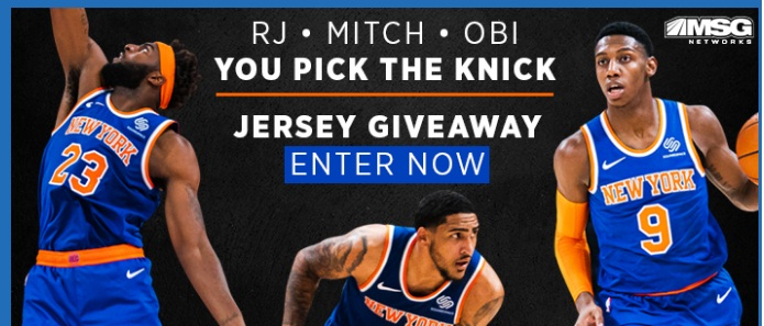 MSG Networks NY Knicks Jersey Giveaway