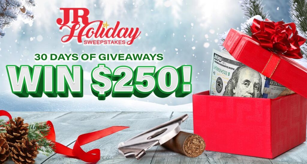 JR Cigars Holiday Sweepstakes