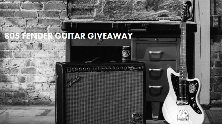 805 Fender Guitar Giveaway