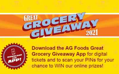 AG Foods Great Grocery Giveaway Game Contest