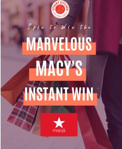 Marvelous Macys Instant Win Giveaway