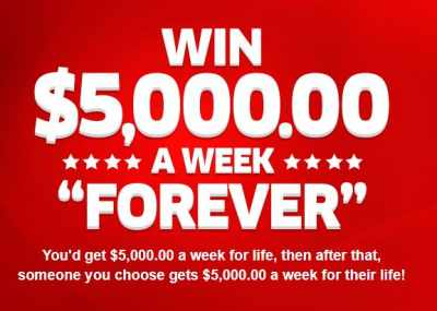 PCH Win $5000 A Week Forever Sweepstakes