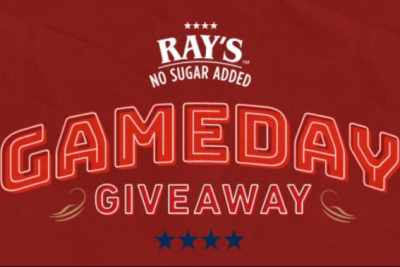 Rays No Sugar Added Gameday Giveaway