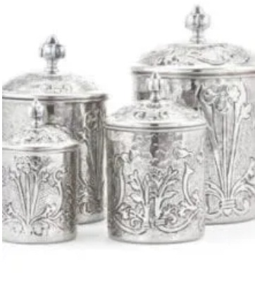 A Set Of 4 Art Nouveau Stainless Steel Canisters Giveaway