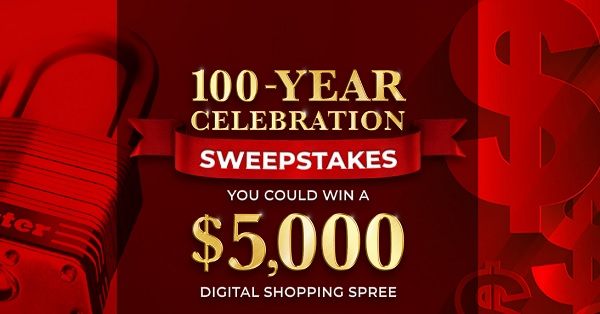 Master Lock 100th Anniversary Sweepstakes and Instant Win Game