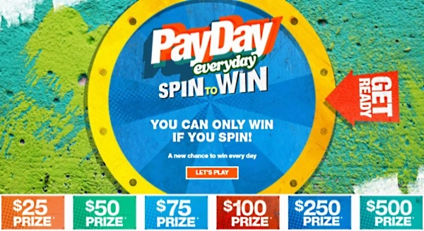 Newport Payday Spin To Win Instant Win Game