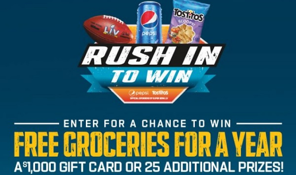 Pepsi Cola Rush in to Win Sweepstakes