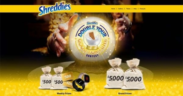 Shreddies Double Your Good Fortune Contest