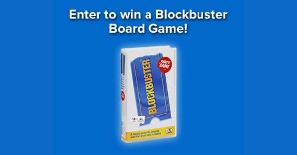 Blockbuster Board Game Giveaway