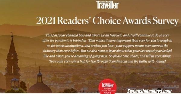 Conde Nast Traveler Reader Choice Awards Sweepstakes