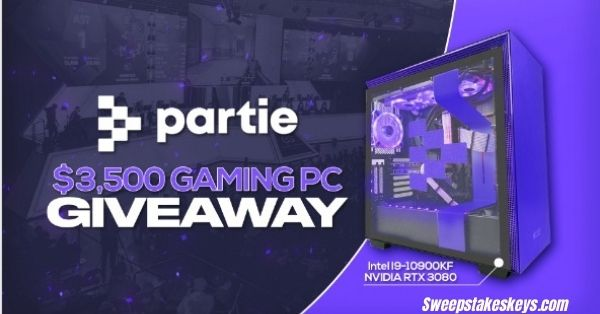 Partie $3,500 Gaming PC Giveaway