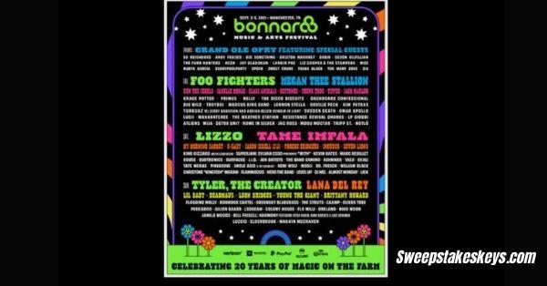 Bonnaroo Music And Arts Festival At Work Perk Sweepstakes